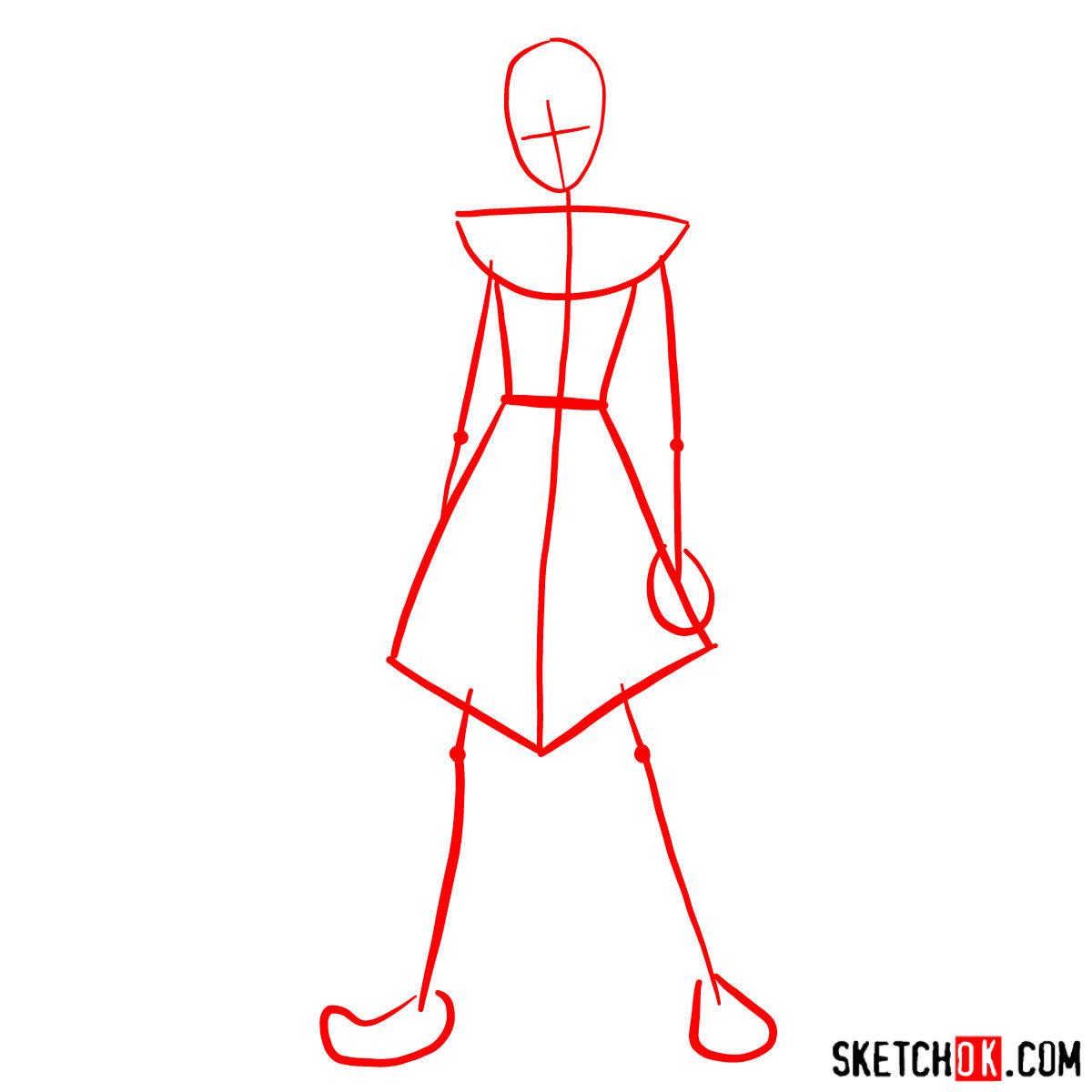 How to draw Azula - step 01