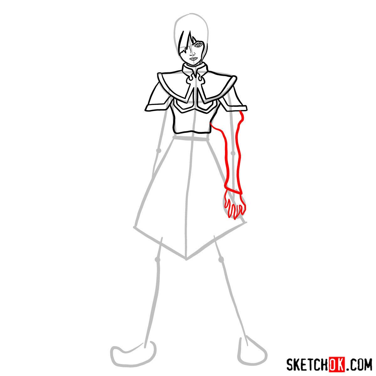 How to draw Azula -  step 06