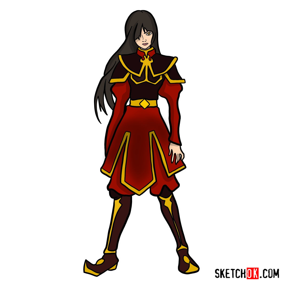 How to draw Azula