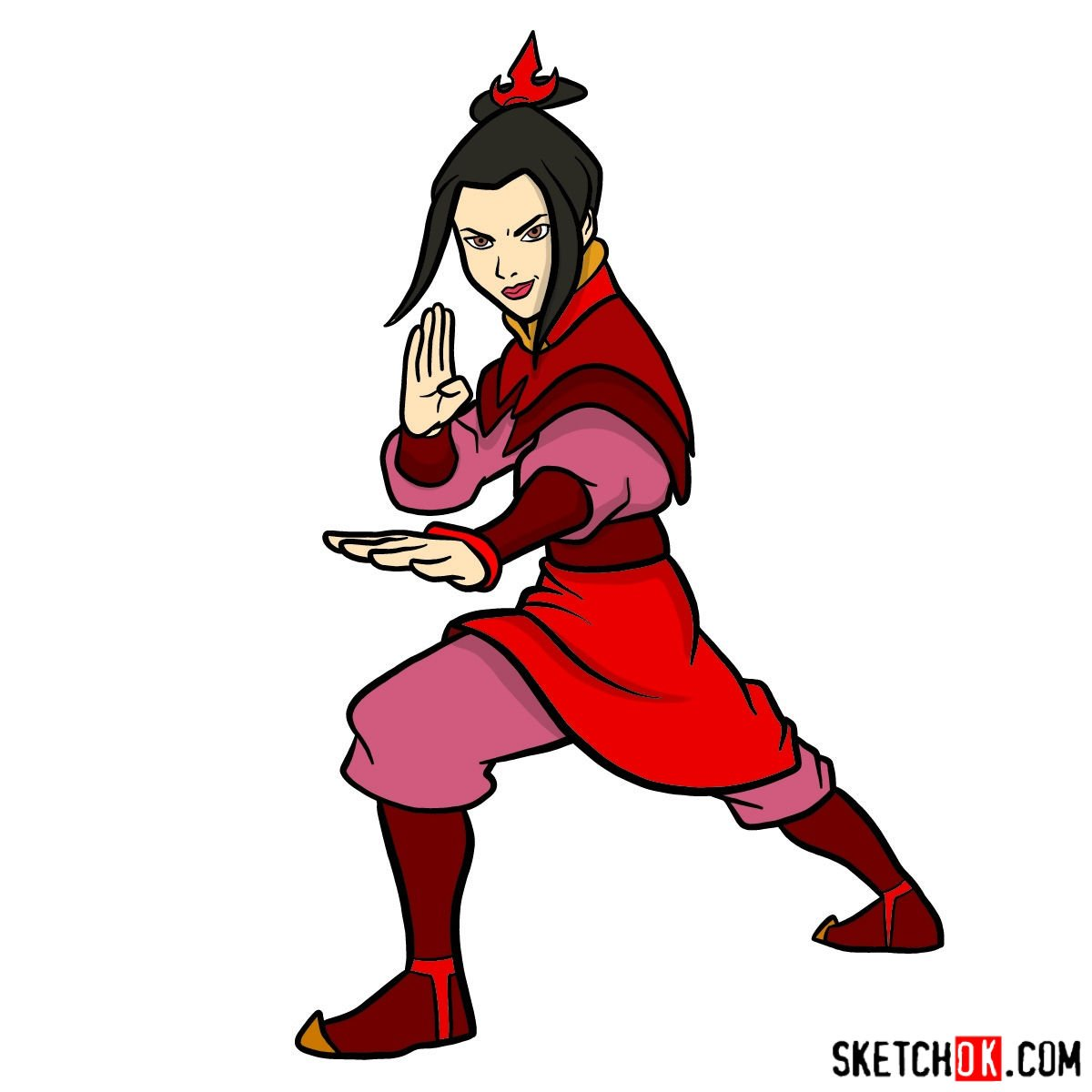 How to draw Azula in battle rack