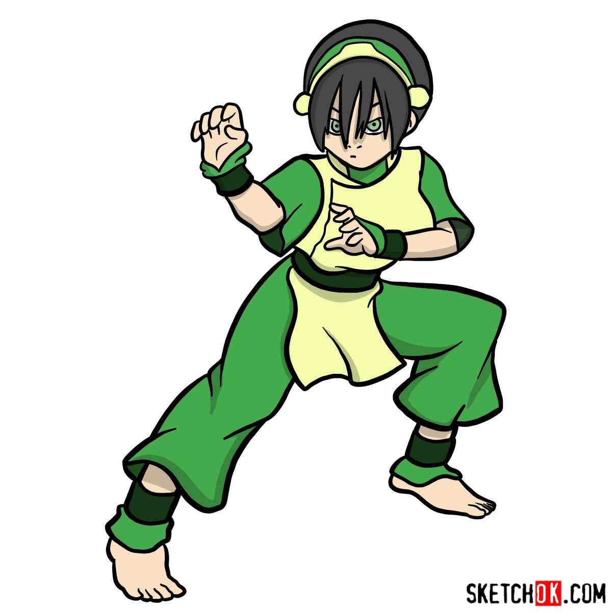 How to draw Toph Beifong