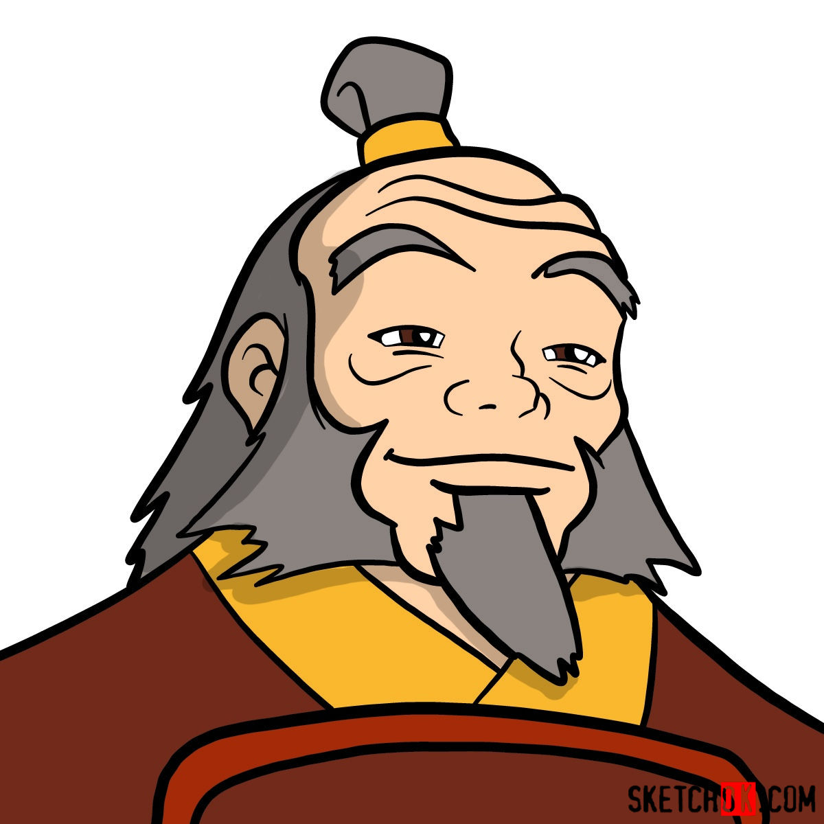 How to draw Iroh's portrait