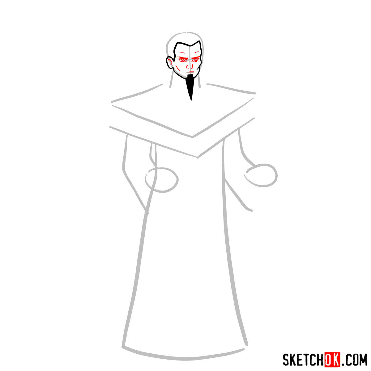 How to draw Ozai - step 03