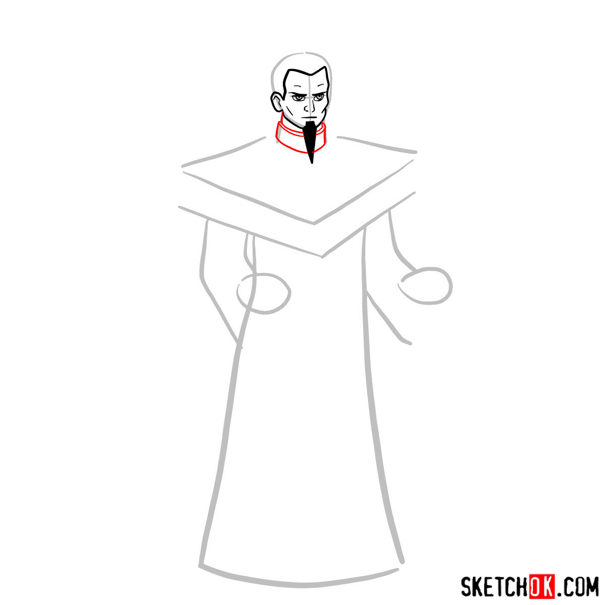 How to draw Ozai - step 04