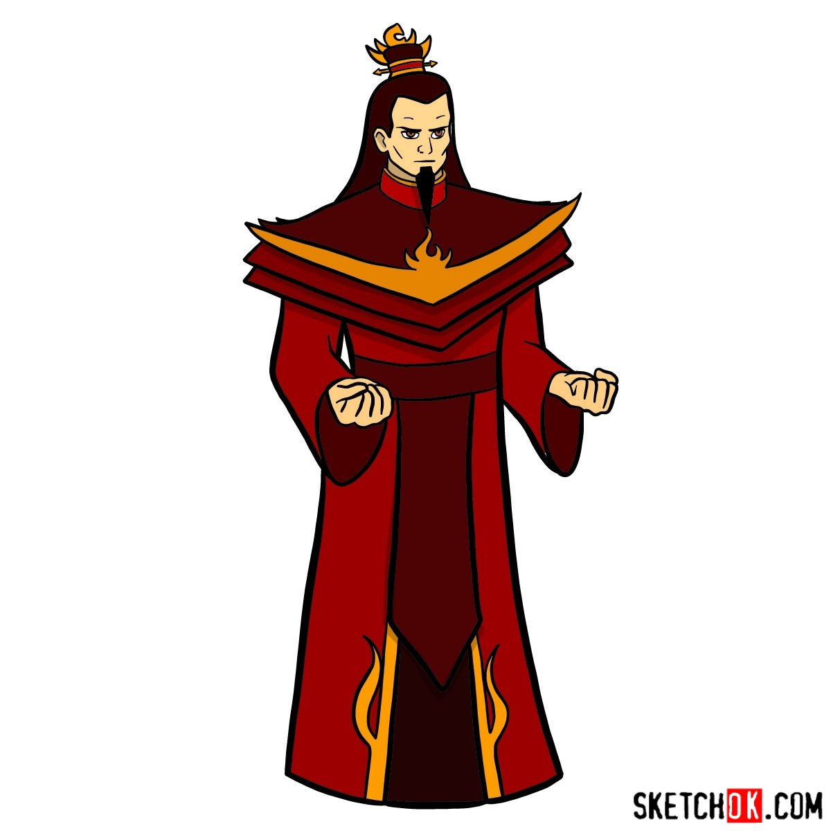How to draw Ozai