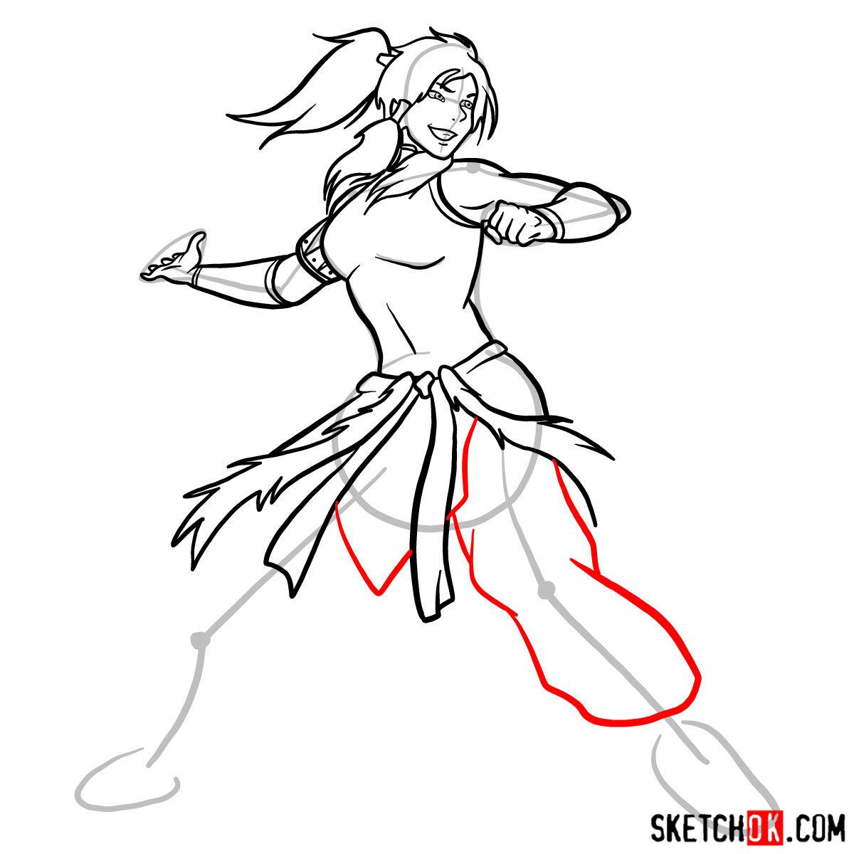 How to draw Korra - step 11