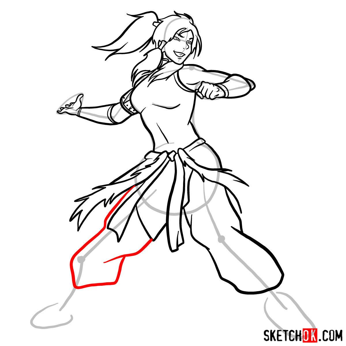 How to draw Korra - step 12