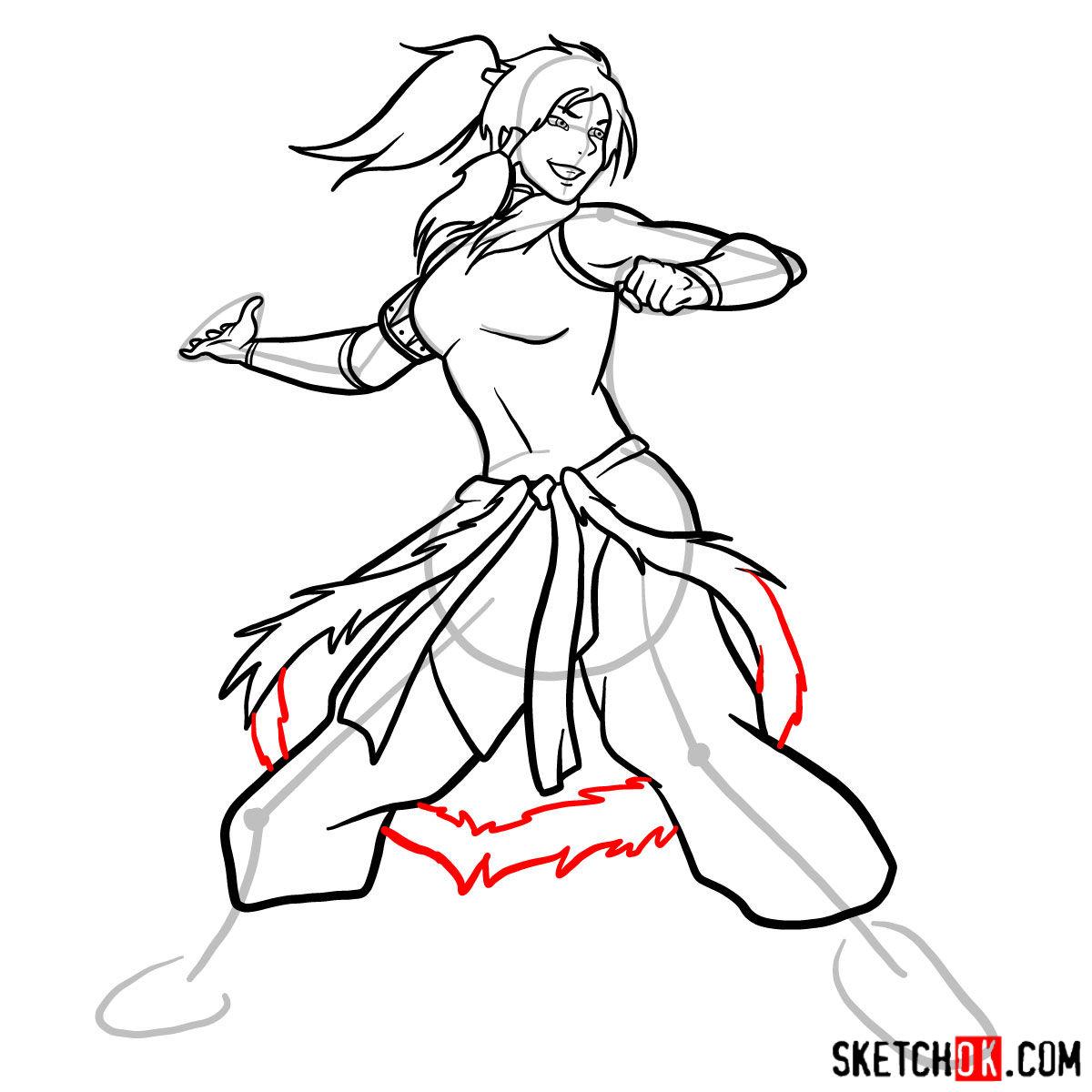 How to draw Korra - step 13