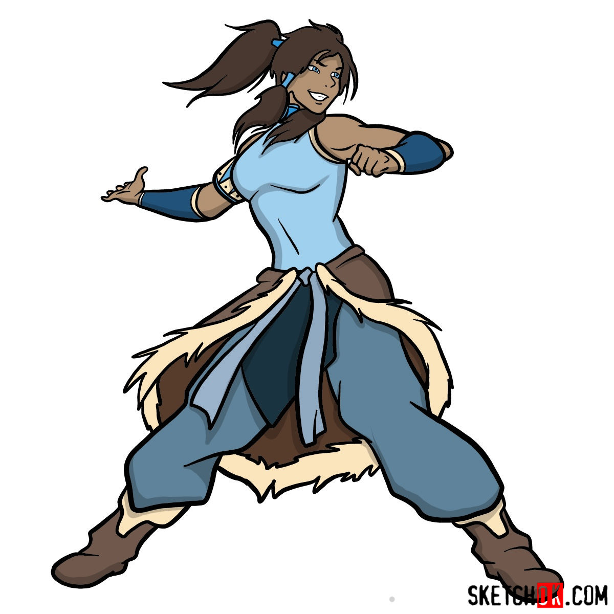 How to draw Korra