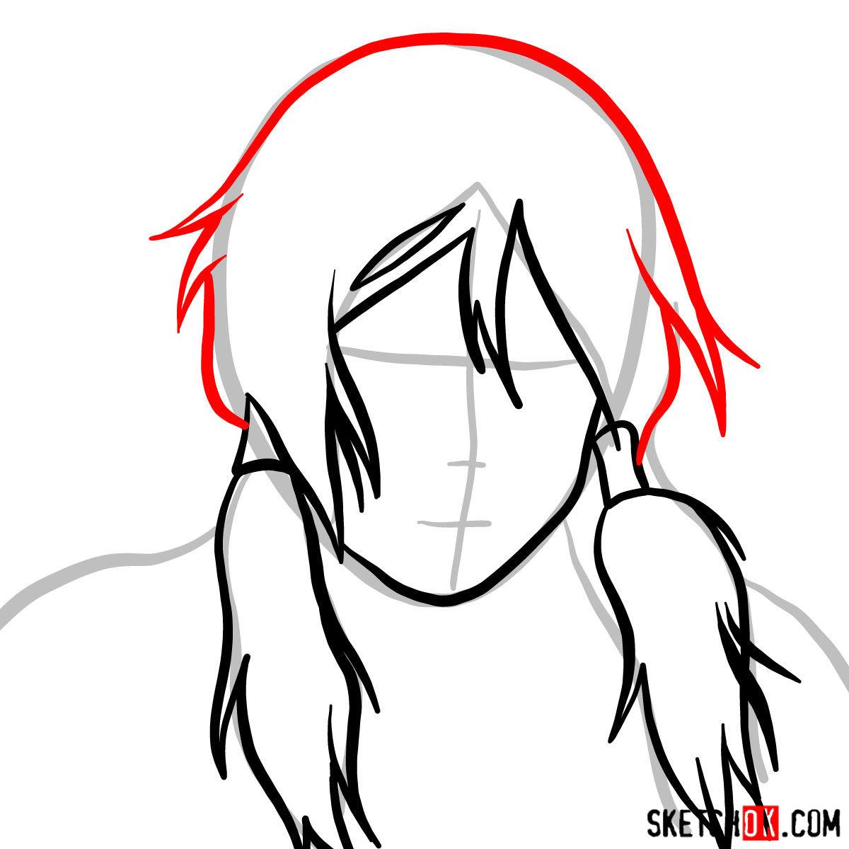 How to draw Korra's portrait - step 04