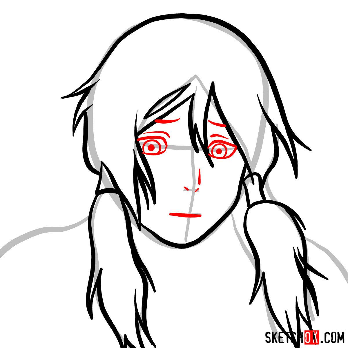 How to draw Korra's portrait - step 05