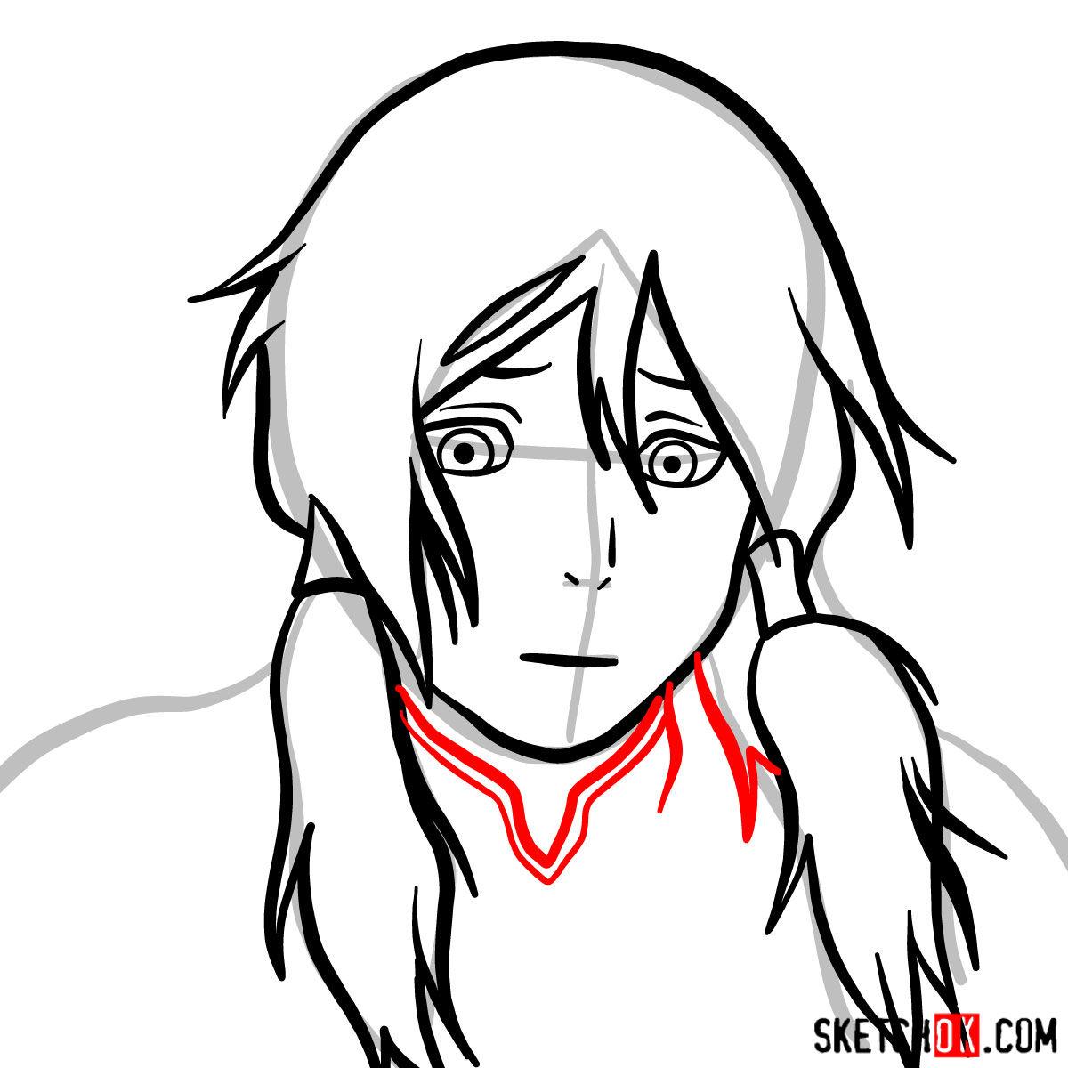 How to draw Korra's portrait -  step 06