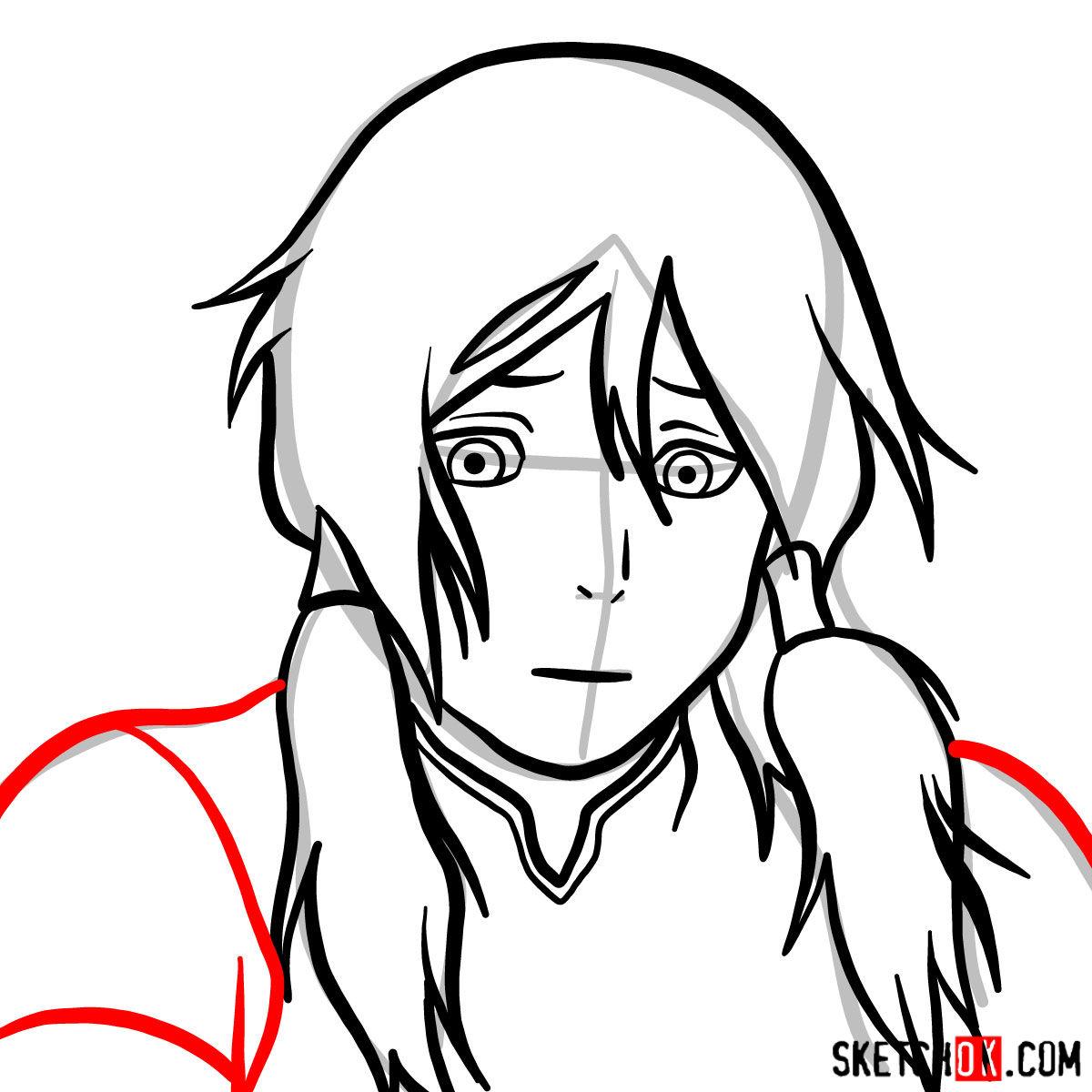 How to draw Korra's portrait - step 07