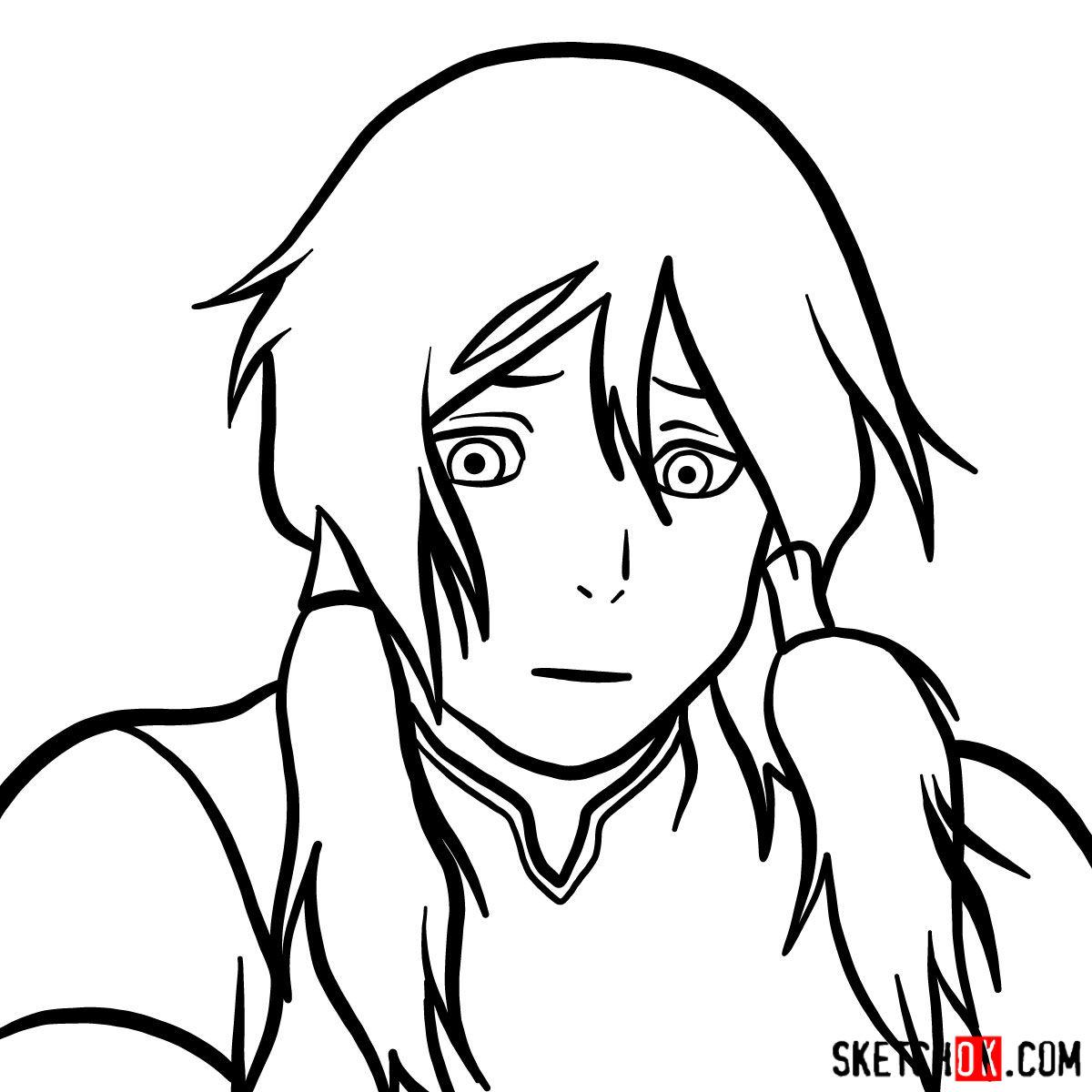 How to draw Korra's portrait - step 08