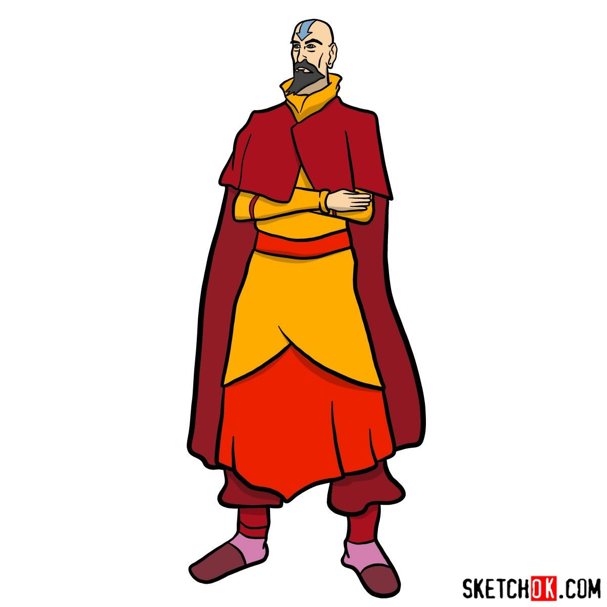 How to draw Tenzin