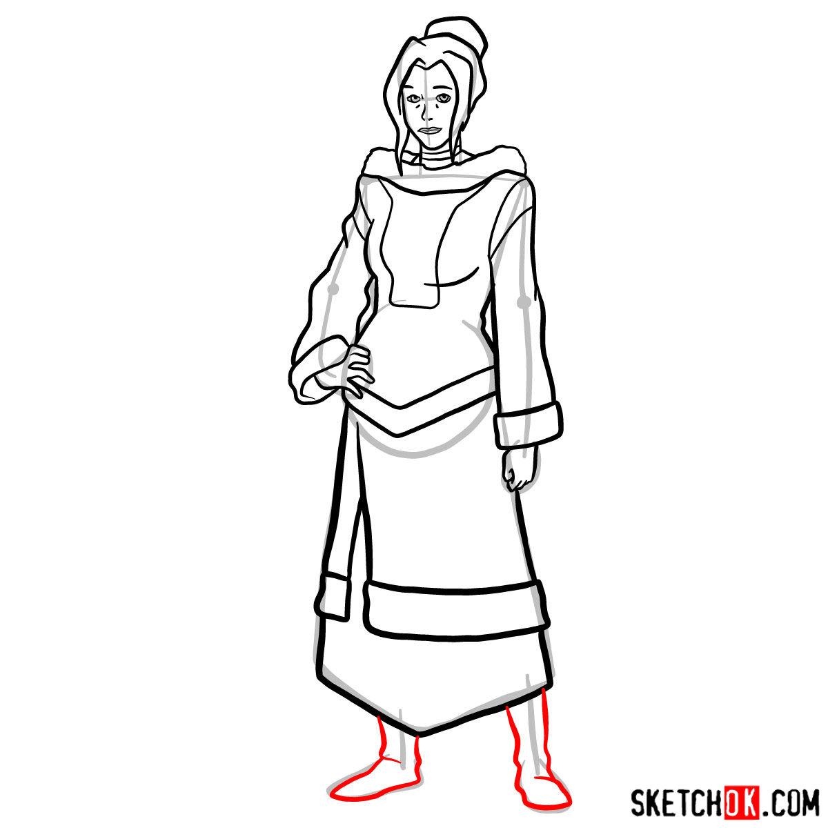 How to draw Kya - step 12