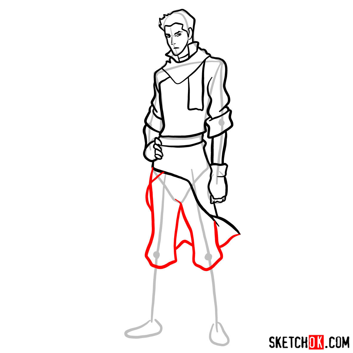 How to draw Mako - step 11
