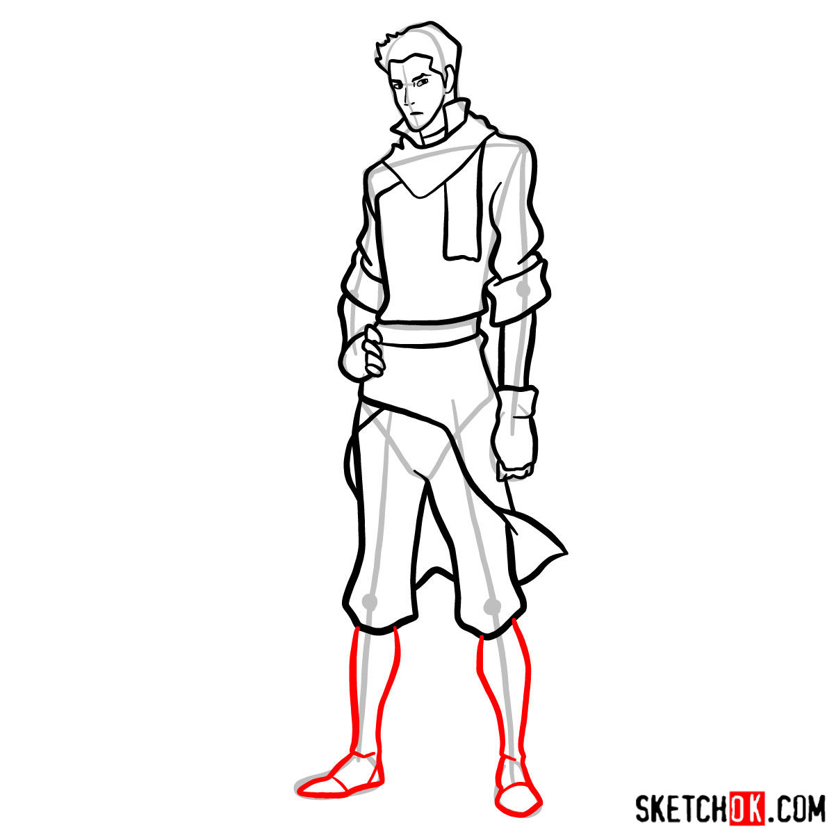 How to draw Mako - step 12