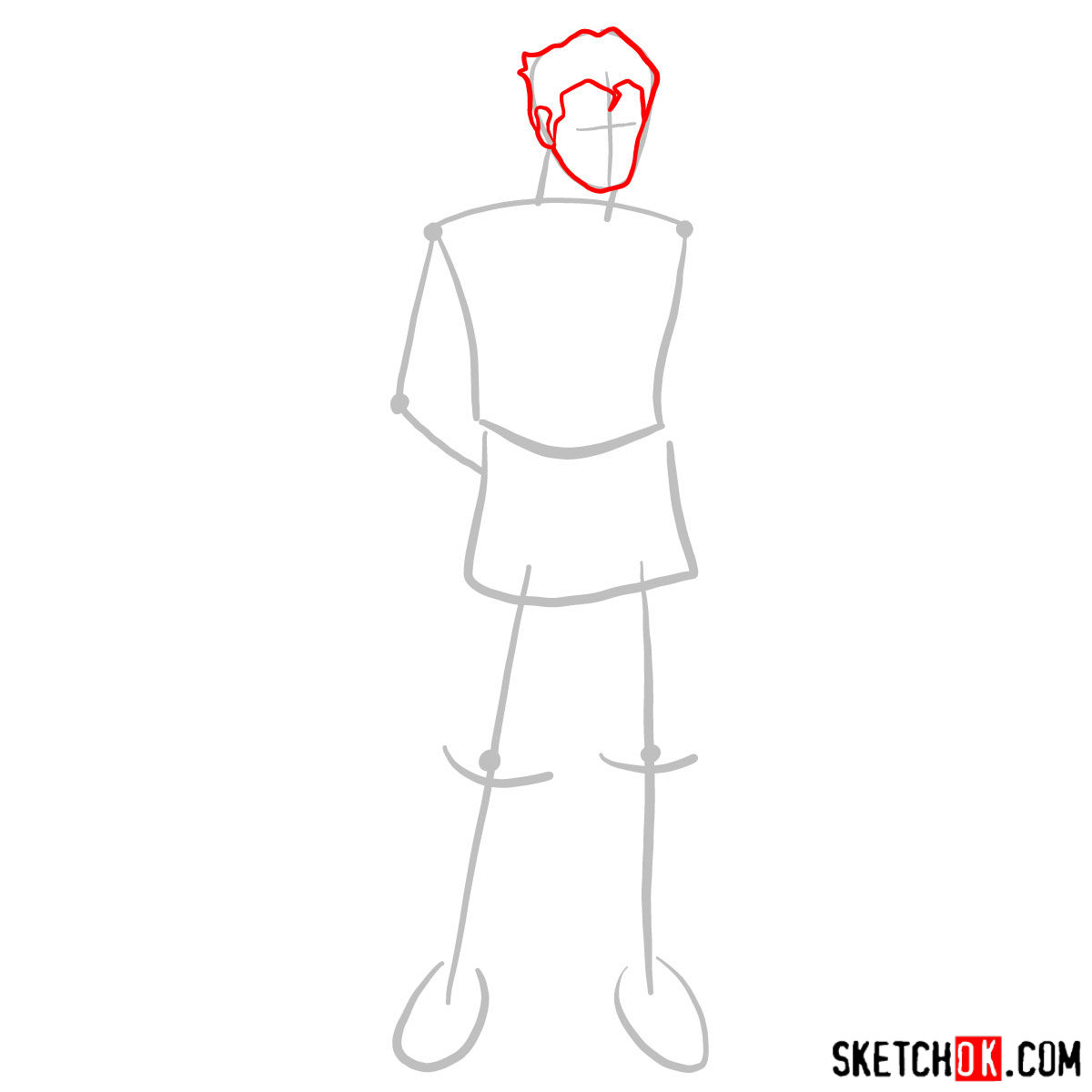How to draw Bolin - step 02
