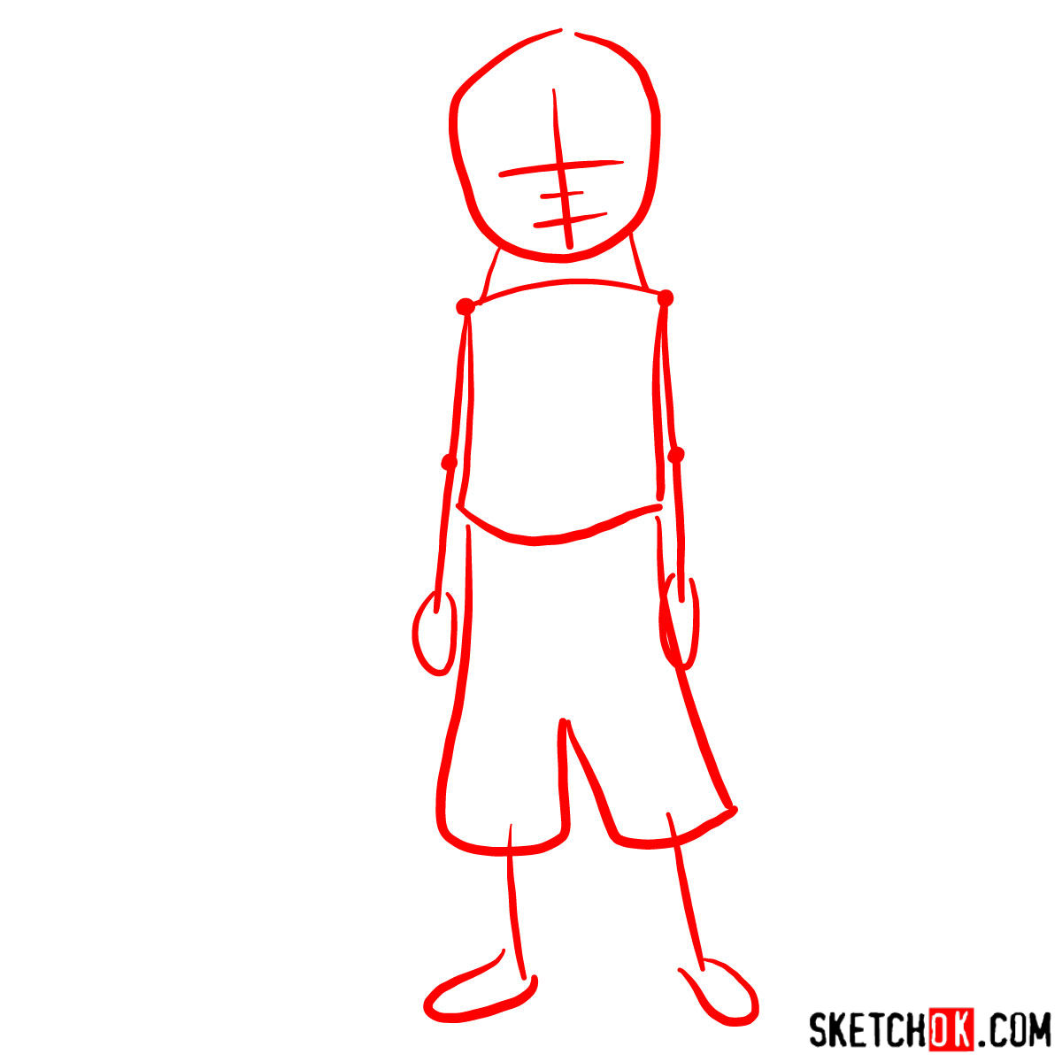 How to draw Meelo - step 01