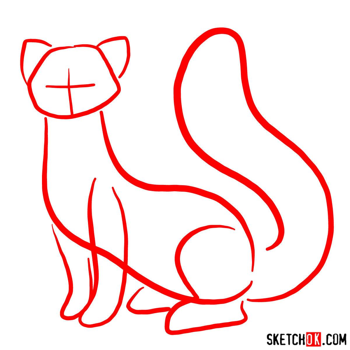 How to draw Pabu - step 01