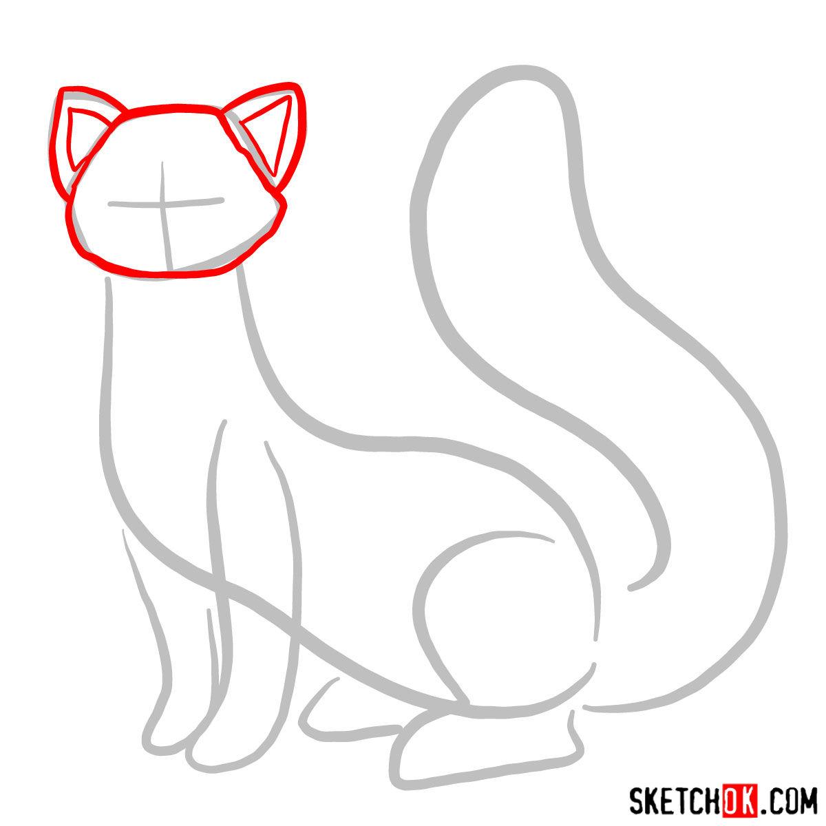 How to draw Pabu - step 02