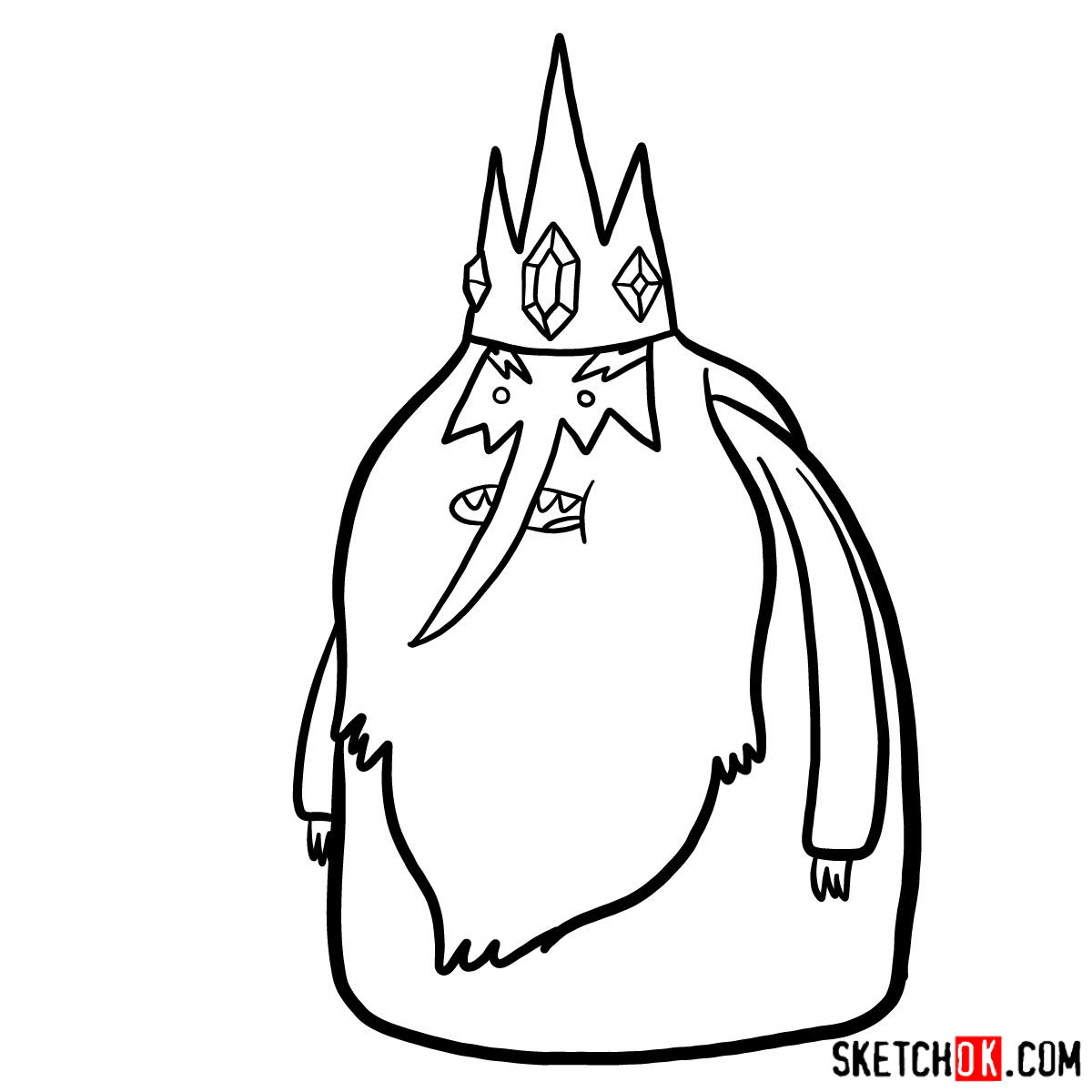 How to draw Ice King - step 09