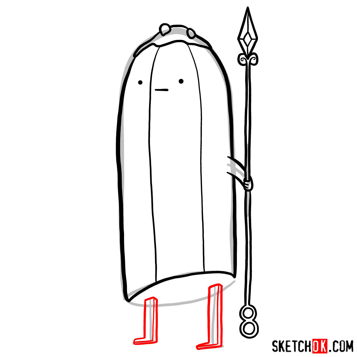 How to draw Banana Guards from Adventure Time - step 08