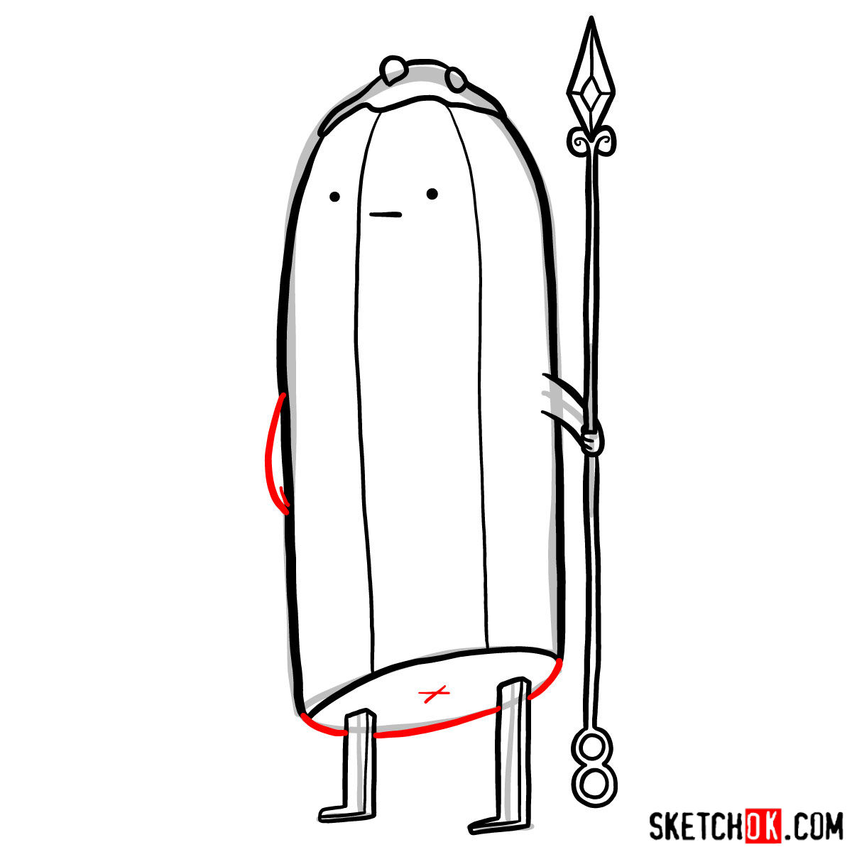 How to draw Banana Guards from Adventure Time - step 09