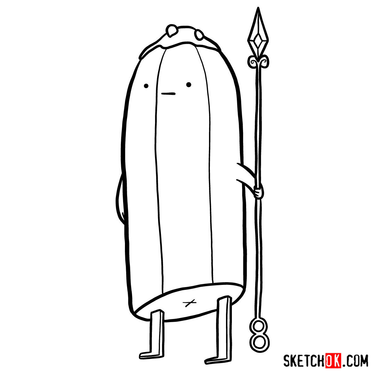 How to draw Banana Guards from Adventure Time - step 10