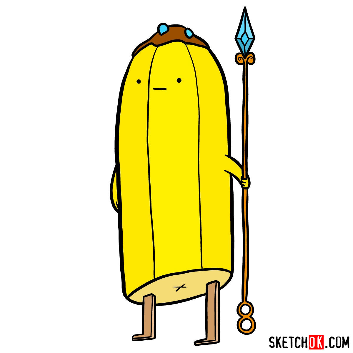 How to draw Banana Guards from Adventure Time
