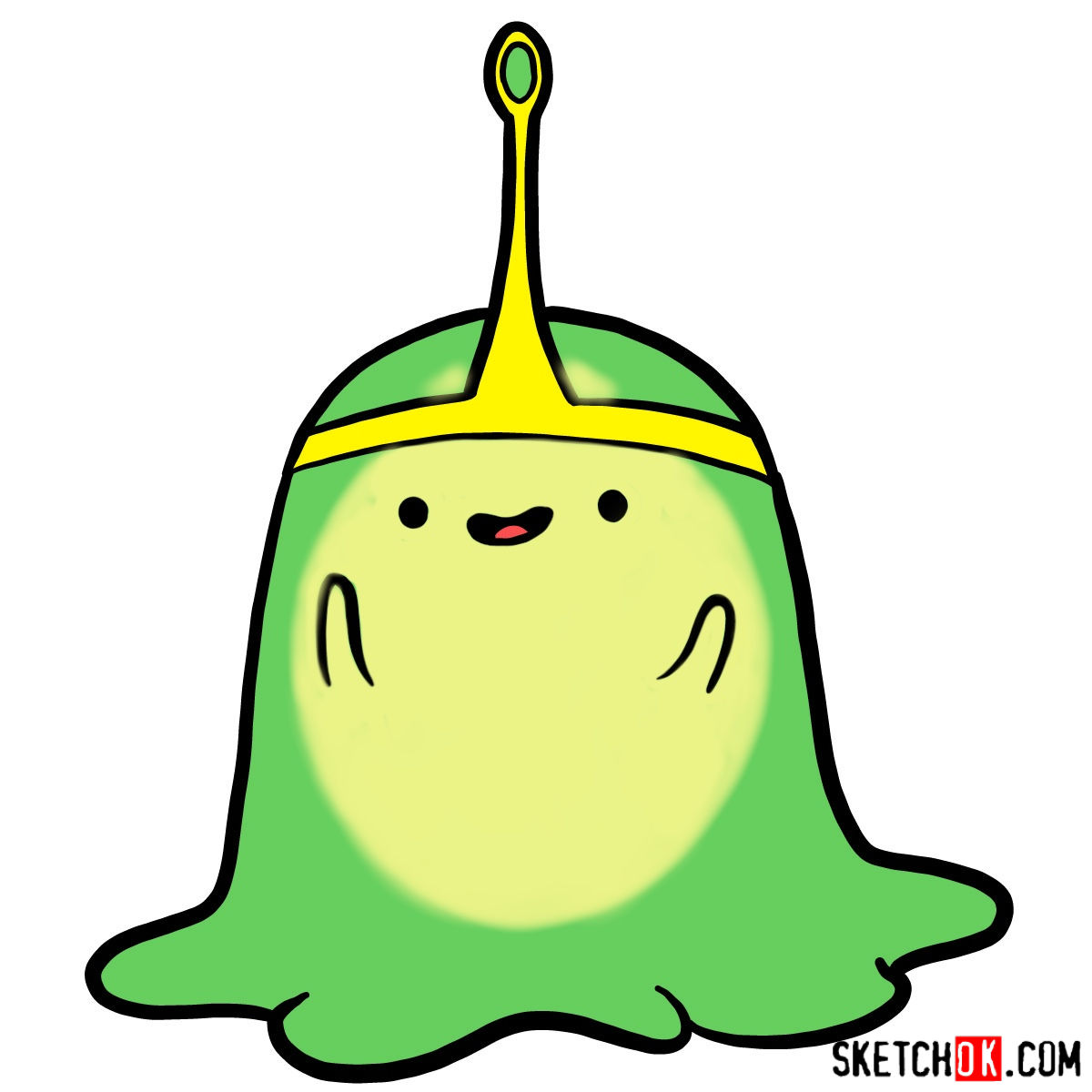 How to draw Slime Princess