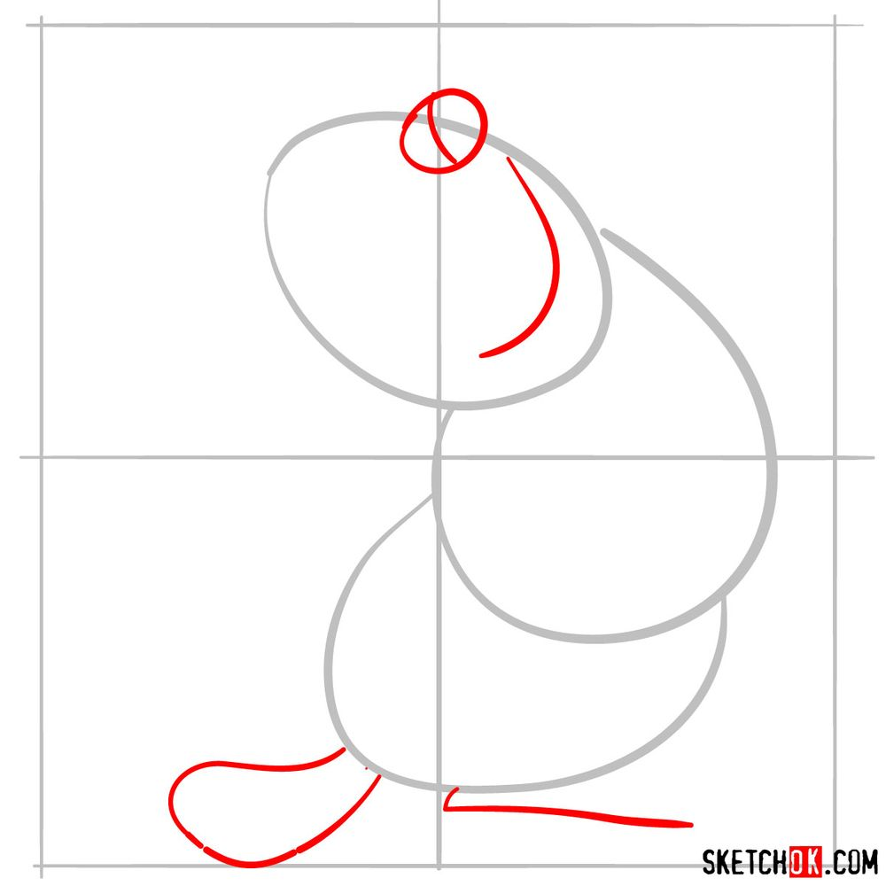 How to draw Iago from Disney's Aladdin - step 03