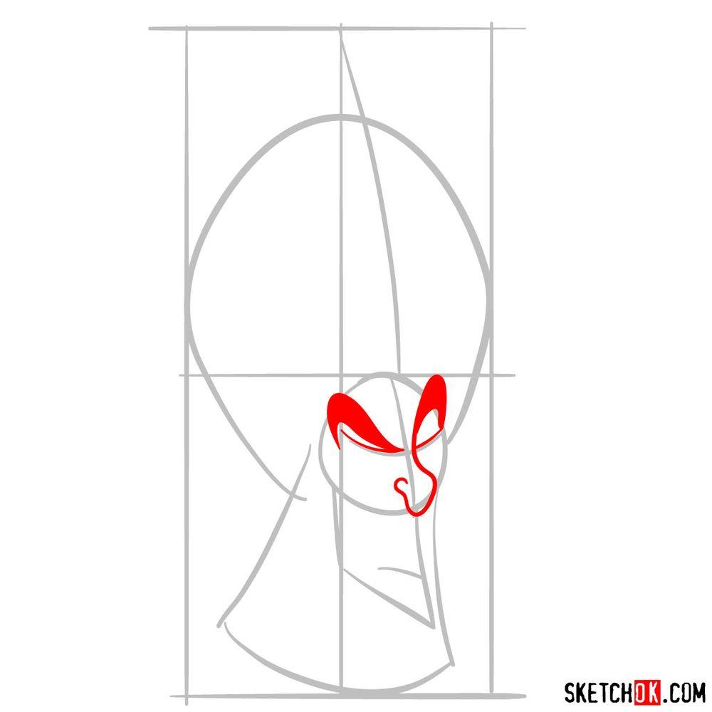 How to draw Jafar - step 04