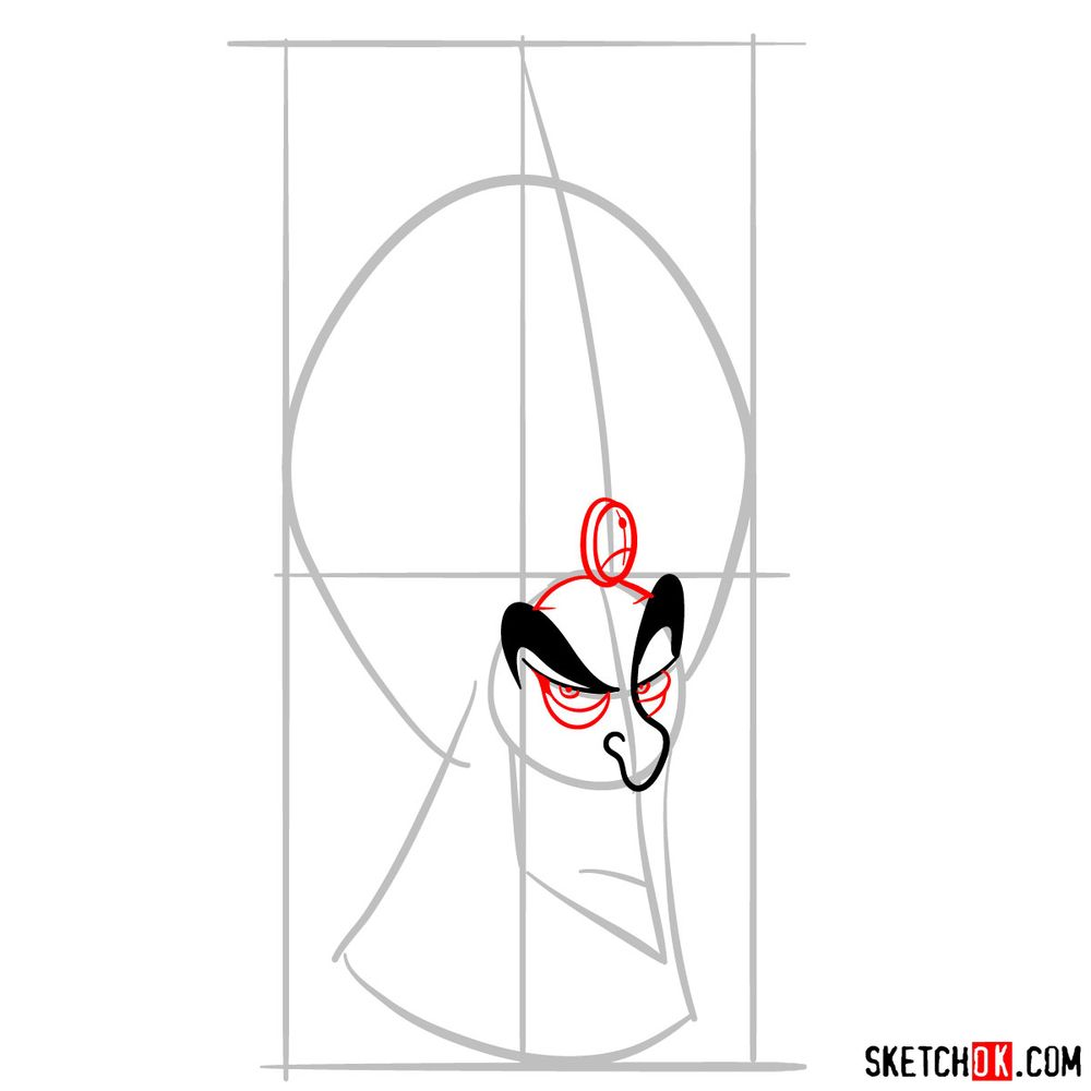 How to draw Jafar - step 05