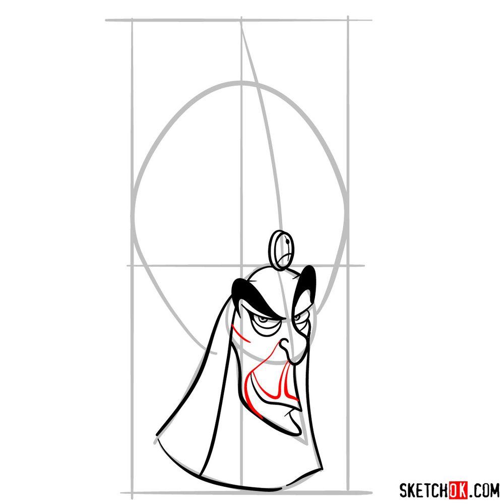 How to draw Jafar - step 08