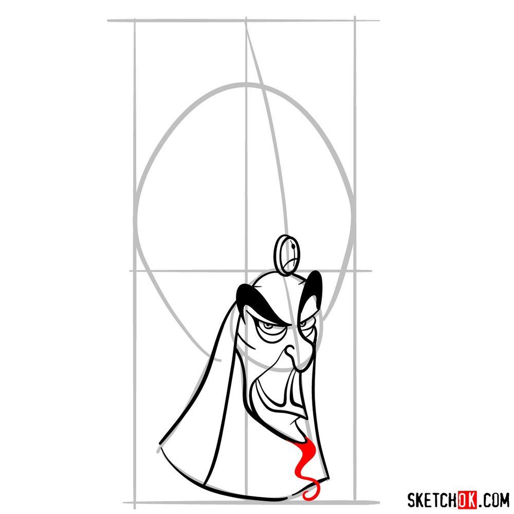 How to draw Jafar - step 09
