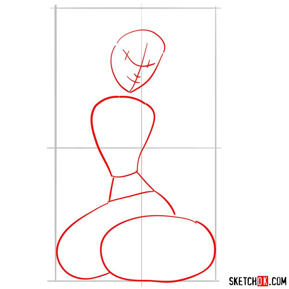 How to draw Jasmine - step 02