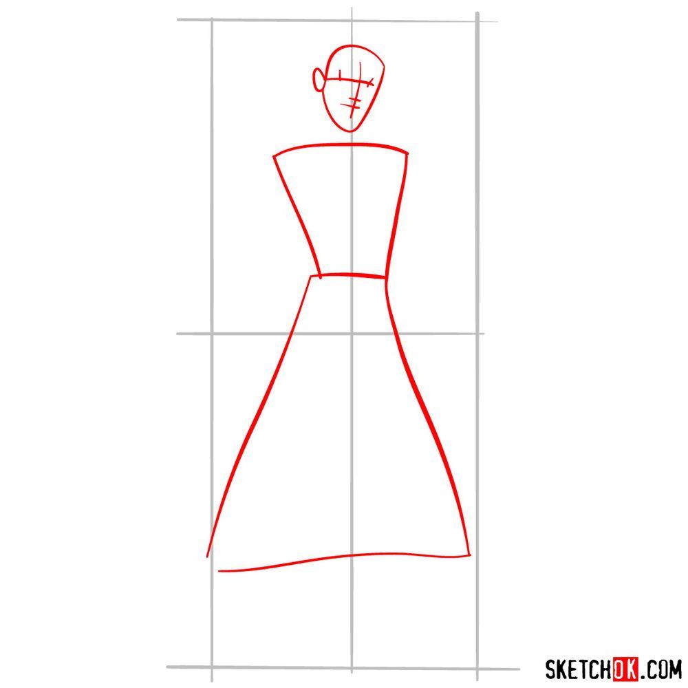 How to draw Aladdin - step 02