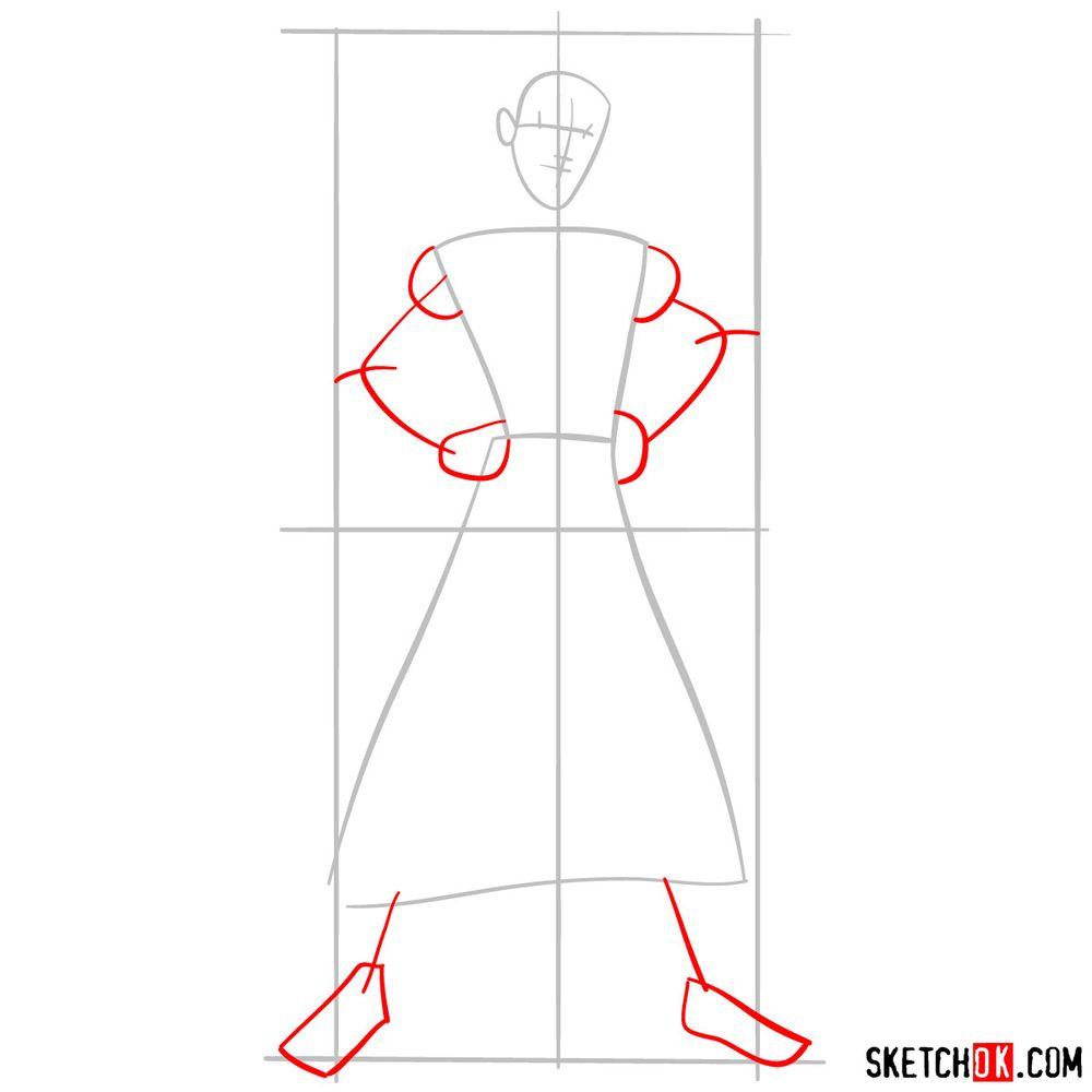 How to draw Aladdin - step 03