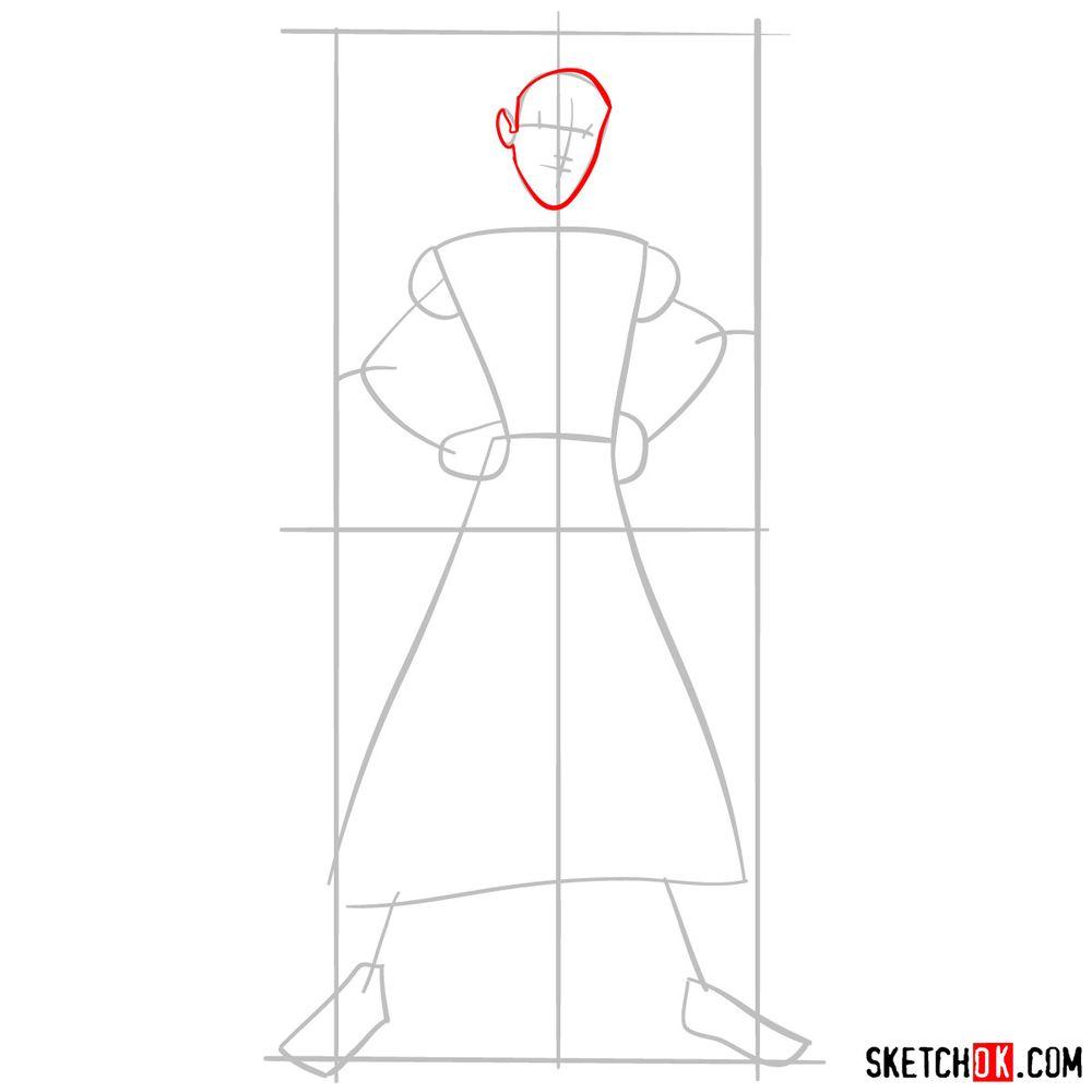 How to draw Aladdin - step 04