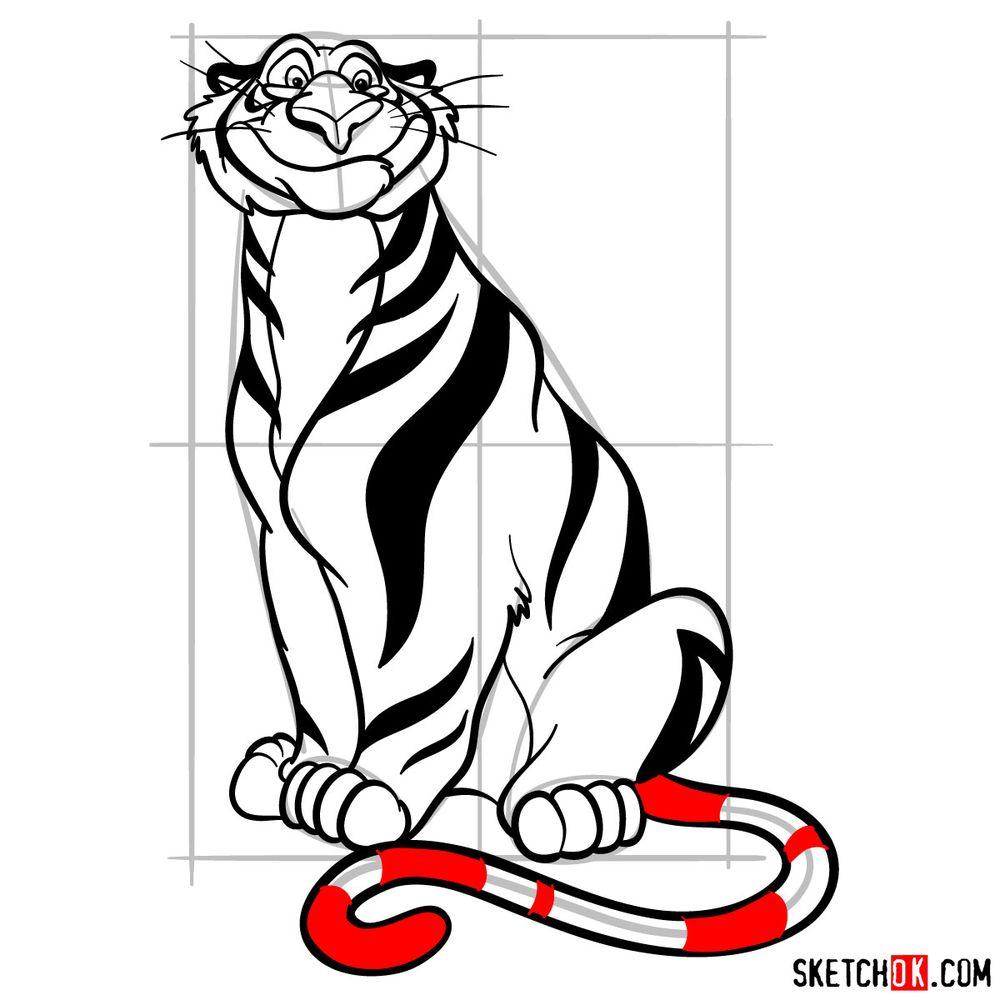 How to draw Rajah from Disney's Aladdin - step 18