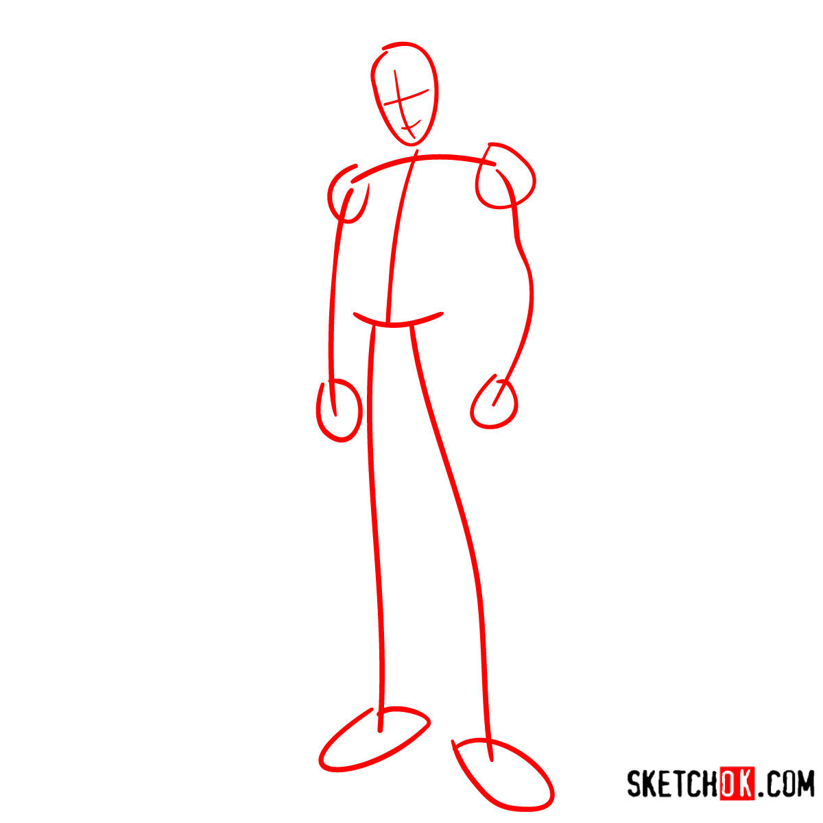 How to draw Brandon from Winx - step 01