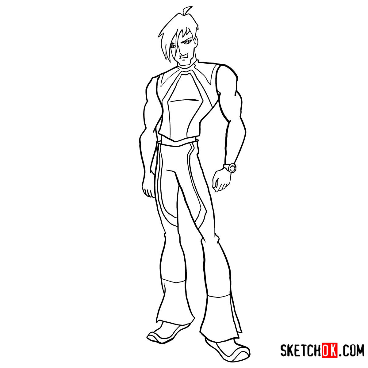 How to draw Brandon from Winx