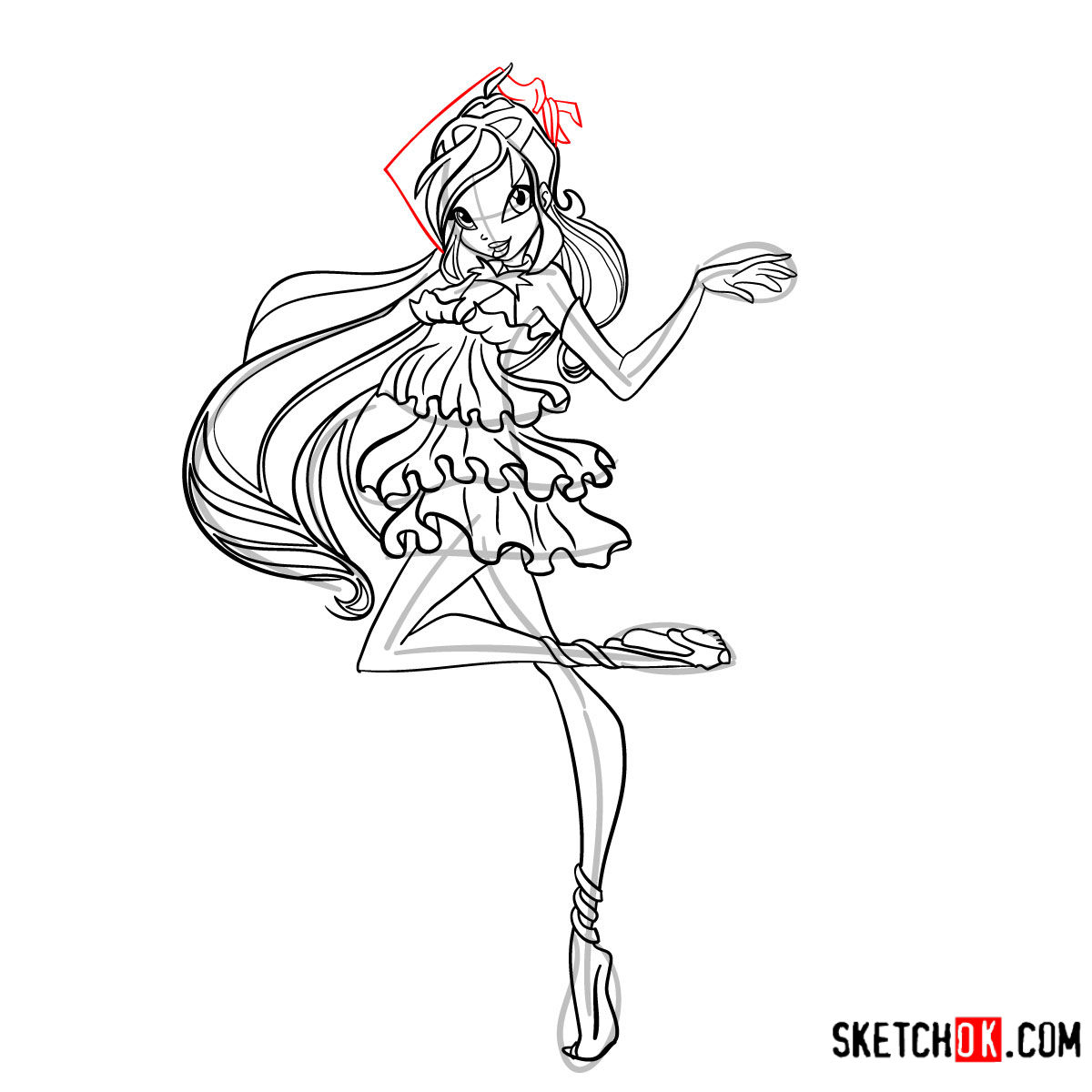 How to draw Bloom Enchantix from Winx - step 13