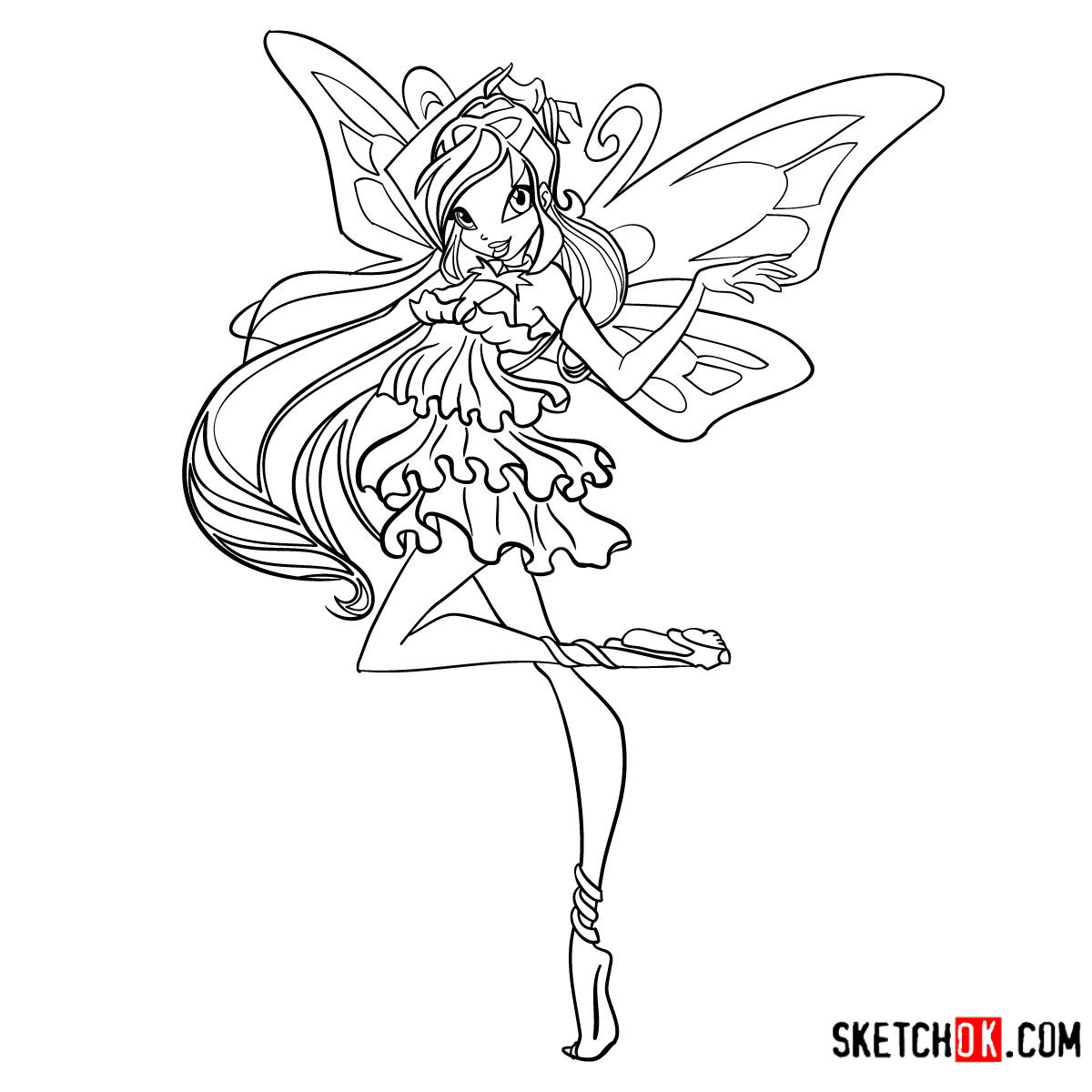 How to draw Bloom Enchantix from Winx