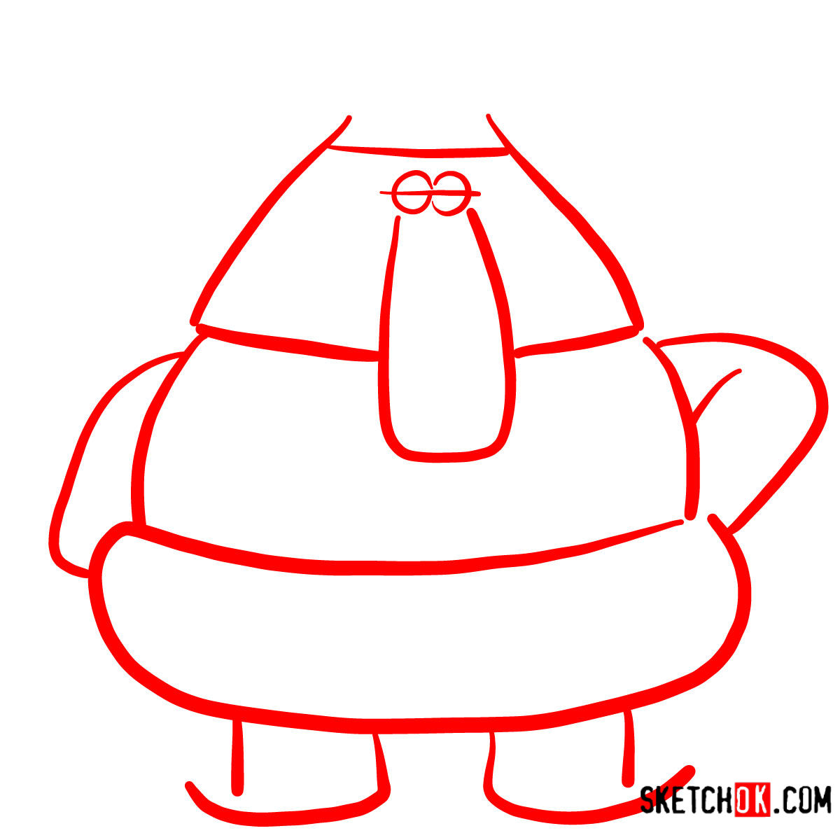 How to draw Gazpacho from Chowder series - step 01