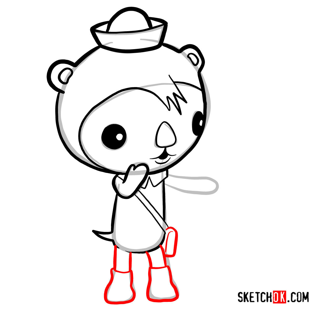 How to draw Shellington Sea Otter | Octonauts -  step 06