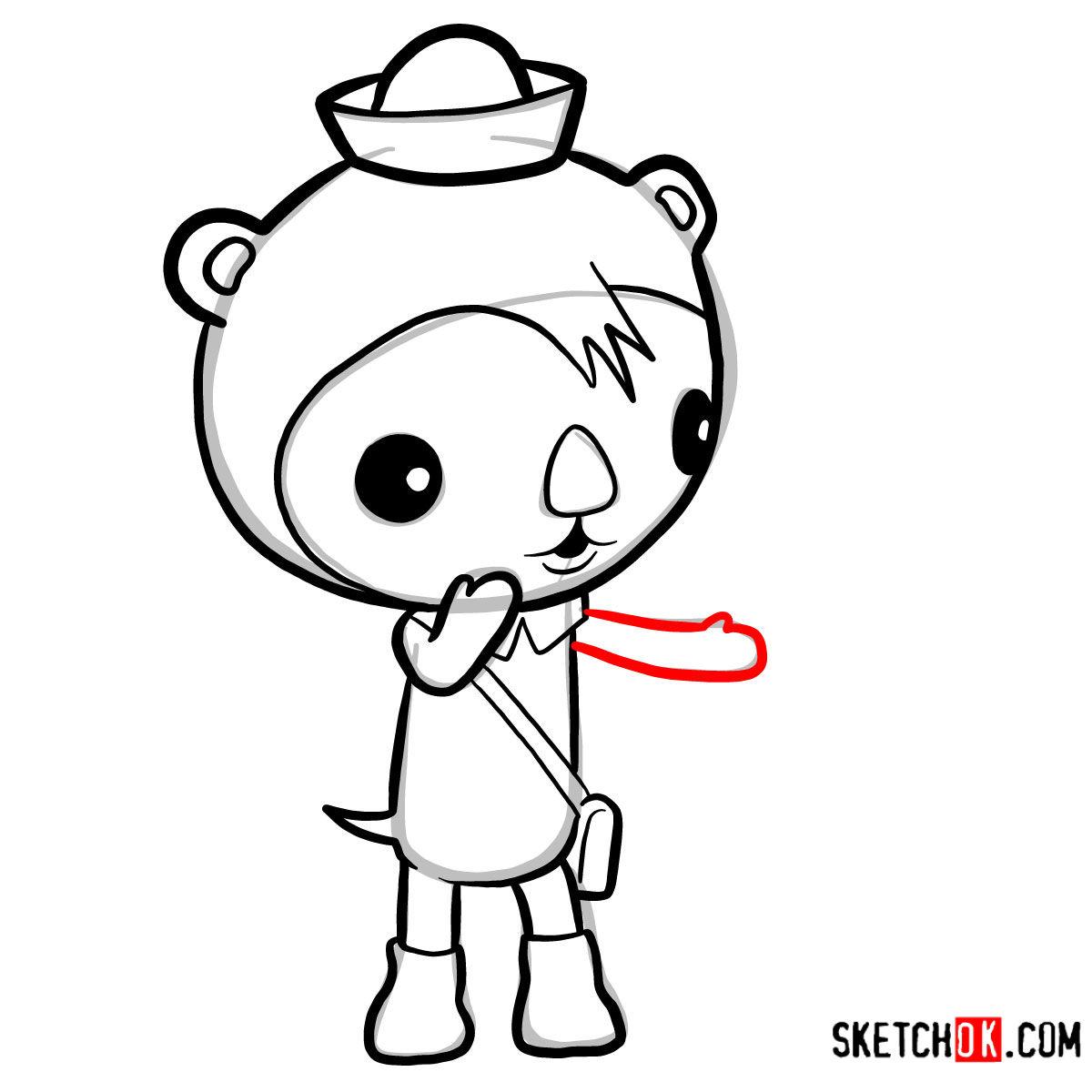 How to draw Shellington Sea Otter | Octonauts - step 07
