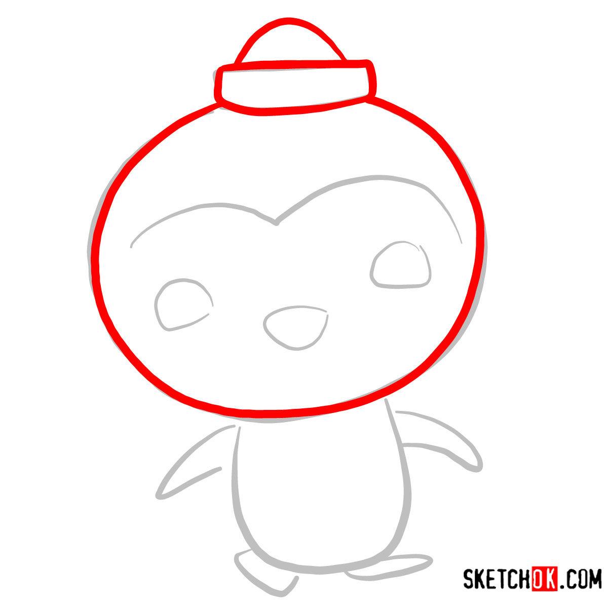 How to draw Peso Penguin | Octonauts - step 02
